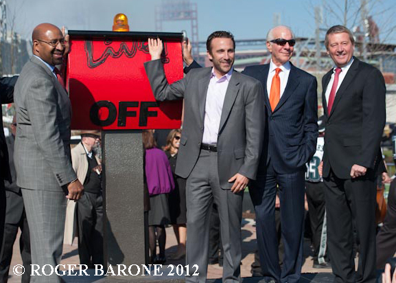 Xfinity Live Complex dedication with Ed Snider photo by roger barone
